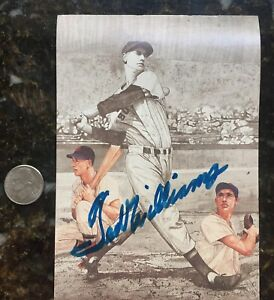 Ted Williams Boston Red Sox Autograph Signed Baseball Postcard