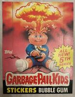 1986 Garbage Pail Kids 5TH SERIES Cardboard Box NOS Topps