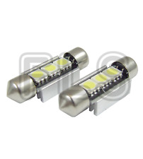 2x 37mm CANBUS WHITE LIGHT 3 LED LICENCE NUMBER PLATE / INTERIOR BULBS  VOW1