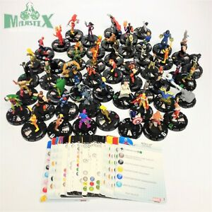 Heroclix lot of 53 Marvel figures with cards from various sets! Guardians, Thor