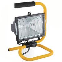 500W FLOOD LIGHT STAND ADJUSTABLE WORK SITE LAMP HAND HELD 265V PORTABLE HALOGEN