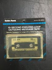 Radio Shack 15-Second Endless-Loop Outgoing Message Tape PN 43-403A