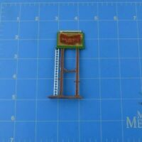 HO Scale Scenic Diorama Part Piece National Beer Billboard Sign With Ladder