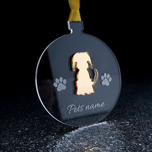 Personalised Pet Christmas bauble hand made tree decoration