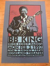 BB King signed concert poster coa + Proof! King of the Blues poster flyer litho