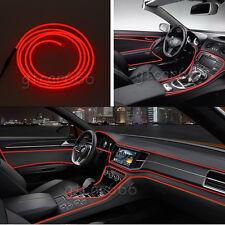 3M 12V Car LED EL Wire Red Cold light lamp Neon Lamp Interior Atmosphere Lights