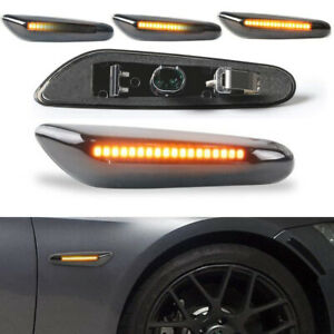 For BMW E90 E60 E82 E87 E88 Sequential LED Side Marker Blinker Turn Signal Light