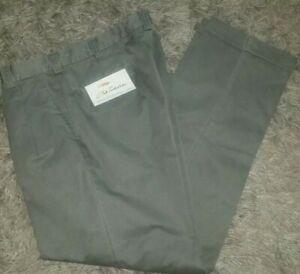 NWT Bob Timberlake Sz 36x34 Khaki Green Grey Pleated Front~ Pockets Cuffed Pants