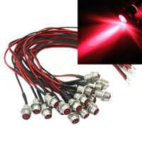 20 LED Indicator Light Lamp Pilot Dash Directional Car Motorcycle Boat 12V Red