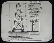 RARE VICTORIAN Glass Magic Lantern Slide THE FORTH BRIDGE CONSTRUCTION NO3 1889