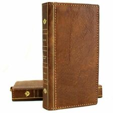 Genuine Vintage Leather Case for Galaxy A51 Wallet Book Soft Luxury card Closure