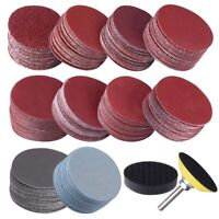 200Pcs 50mm 2 Inch Sander Disc Sanding Discs 80 3000 Grit Paper with 1Inch A4Y8