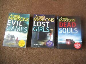 ANGELA MARSONS 3 x PB Book DEAD SOULS, EVIL GAMES & LOST GIRLS