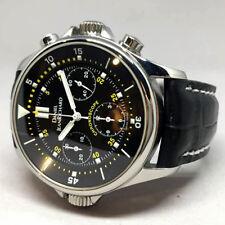 Daniel Jean Richard Chronoscope auto chronograph ขนาด king size 40mm Black dial