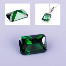 Unheated 10 x 14mm Loose Dazzling Green Sapphire Emerald Diamond Loose Gemstone
