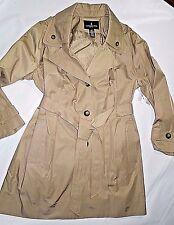 LONDON FOG  women's Khaki Tan trench dress Coat removable hood size XXL