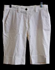René Lezard Womens GOLF Casual White Cotton Blend Shorts 38