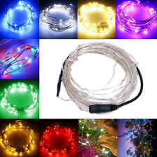 DC 12V Starry Fairy Lights With 100 Micro LEDs 10M Silver Wire Multiple Colors