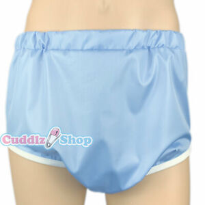 Cuddlz Blue Crinkle Pull Up Adult Sized Incontinence Pants Briefs