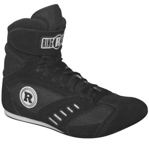 New Ringside Power Shoe8 Lo-Top Low Top Boxing Shoes Boots - Black