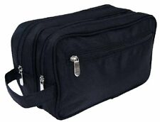Mens Large Travel Toiletries Cosmetic Shaving Wash Bag Case BLACK Gift For Him