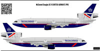 MC Donnell Douglas DC10 British Airways  decal 172