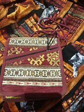 Cross Body Hippy Boho Festival Bag 19 x 17cm, Zipped Pockets