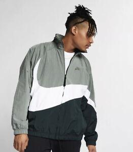Nike Sportswear Swoosh Jacket Men's Size Small Outdoor Green AR3132-351 NWT $120