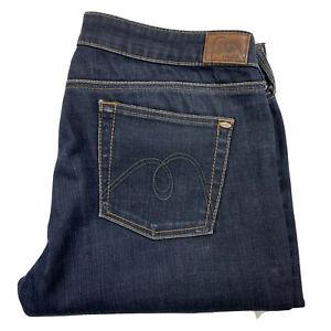 MAVI JEANS Size 34 W35 L34 Dark Blue Jeans Amilie Stretch COTTON Blend Flaw