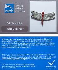 RSPB Pin Badge | Ruddy Darter | GNaH backing card [00501]