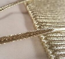 4mm- Beautiful gold flat cord for Arts DIY, crafts decor, designing - 5 metre