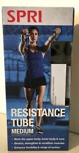 SPRI Resistance Tube Bands Medium 30 Lbs Exercise Strength Training Versatile