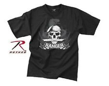 ROTHCO US Skull Ranger with beret VINTAGE BLACK Army shirt T-SHIRT XXL 2XL