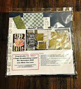 Crop-A-Latte 2 Page Scrap Booking Layout Kit Live What Do You Love New