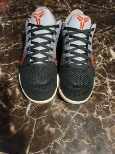 Nike Kobe XI 11 Elite Low Tinker Hatfield Muse Size 10.5  Black Red Gray White