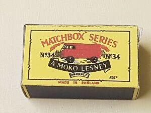 Vintage matchbox Lesley no 34 Volkswagen Moroccan  replica box only