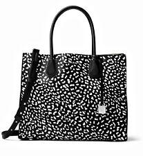 Michael Kors Bag Mercer Studio LG Convertible Black White New