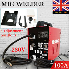 MIG 100 Welder Gasless No Gas Gasless Flux 230V Mighty Machine Welding + Kits