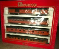 Rivarossi HO 1920's Milwaukee Road 'B' Set 4 Cars with some Interiors. NEW!