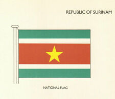SURINAME FLAGS. Republic of Surinam. National Flag 1985 old vintage print