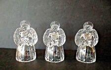Vintage Set 3 Mikasa Austria Crystal 6''Tall Angels Taper Candle Stick Holders