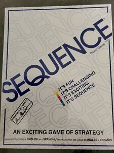 Sequence Board Game by Jax New Sealed, Strategy, English & Spanish