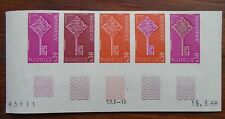 Andorra 1968 - Europa - 30c, Yvert# 188 - Imperf Strip of 5 Colour Trial - MNH**