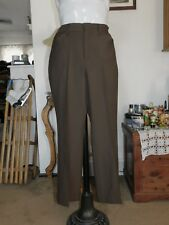 60d513712 NWT JC PENNEY RELAXED 34X30 BROWN FLARE POLY PANTS MEAS 33X30  Z785