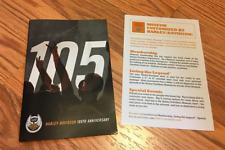Harley Davidson 105th Anniversary Box Set Wallet Key Chain Flags & Programs