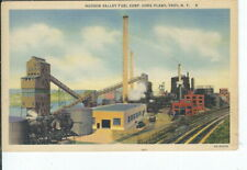 CI-396 NY, Troy, Hudson Valley Fuel Corp, Coke Plant, Linen Postcard Curt Teich