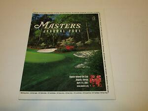 2001 Masters Journal Official Golf Tournament Program - Tiger Woods, Vijay Singh