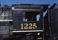 Closeup PERE MARQUETTE 1225 Railroad Steam Locomotive CHESANING Orig Photo Slide
