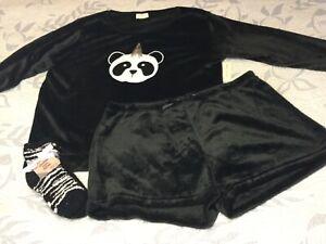 NWT Bobbie Brooks Fuzzy Pajama Gift Sleep Set Size 2X & Fuzzy Socks