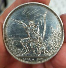 Monnaie argent 5 Francs concours Tir de Saint Gallen 1874 Suisse